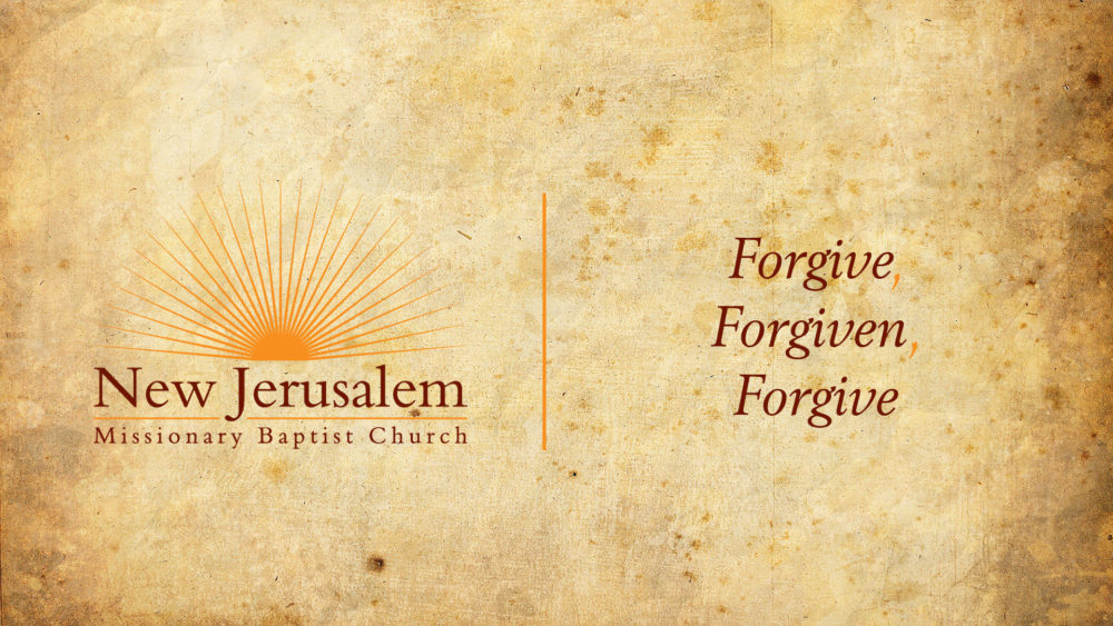 Forgive, Forgiven, Forgive Image