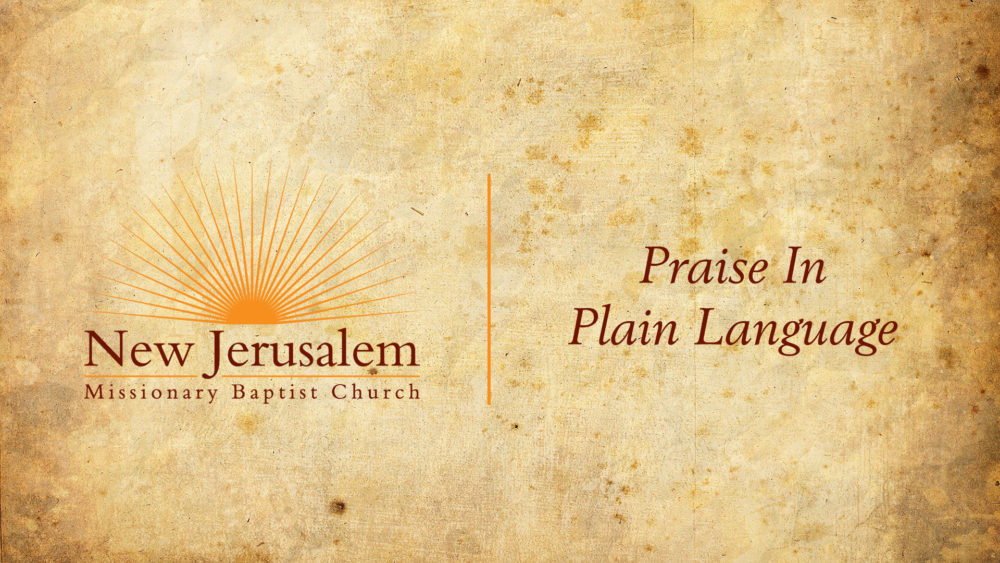 Praise In Plain Language Image